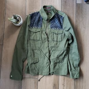 Material Girl olive green military jacket S